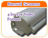 Sapphire 4 by 3 Ratio Projector Screens