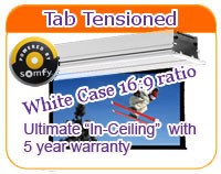 In Ceiling Tab Tensioned