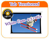 White 4by 3 ratio tab tensioned